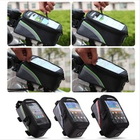 Cycling bag Bicycle bag Frame Pannier Front Tube Bag For Cell Phone Red / Blue / Green sports bike bag
