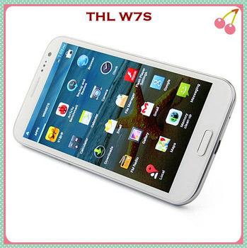 "5.7"" Quad Core Smart Phone THL W7s Android 4.2 MTK6589 1GB 4GB/8GB HD IPS 3G GPS 3.2MP 8.0MP Dual Camera Phone Free Shipping"