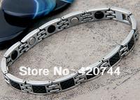 2PCS/Lot Stainless Steel Magnetic Magnet Bracelet Bangle Link Chain