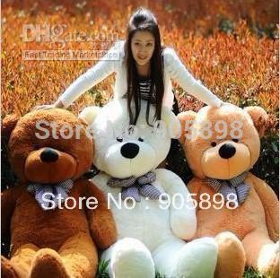 Large 1.6 Meters Teddy Bear Lovers Big bear Arms Stuffed Animals Toys Plush Doll retails free shipping(China (Mainland))