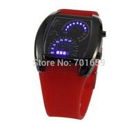 Brand New Fashion Design Blue LED Light Dot Matrix Mens aviation WATCH dive SIX colors 50pcs/lot free dropshipping