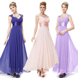 HE09672 Free Shipping V Neck Sequins Chiffon Ruffles Empire Line Evening Dress(China (Mainland))