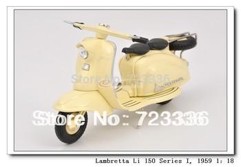 1:18 ITALY Alloy Lambretta Li 150 Series I Motorcycle model Vespa alloy model toys freeshipping vespa 125 birthday gift juguetes