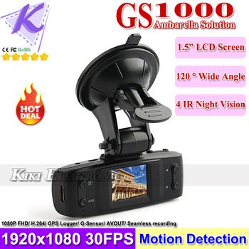 Car DVR GS1000 GPS+G-Sensor 5MP H.264 Full HD 1920x1080 30FPS Car Recorder /1.5' LCD/HDMI/Seamless Cycle Recording/Ambarella CPU