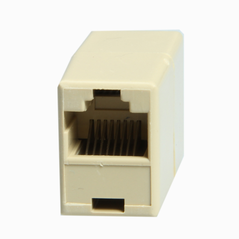Wholesale ! New RJ45 Ethernet Adapter Splitter 1 to 1 socket Internet Cable/Cord/Wire Cat5 Free shiiping(China (Mainland))