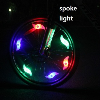 6pcs/lot silica gel bicycle spoke light bike wheels spoke light steel wire lamp mountain bike wheel light,have battery