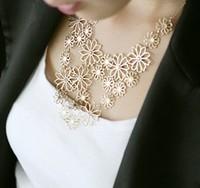 hot selling fashion korean jewelry delicate romatic flower choker necklace Free Shipping HeHuanXL248
