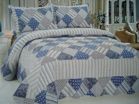 Fashional patchwork quilt/Three pcs bedding set/Material: cotton/Size: 230*250cm