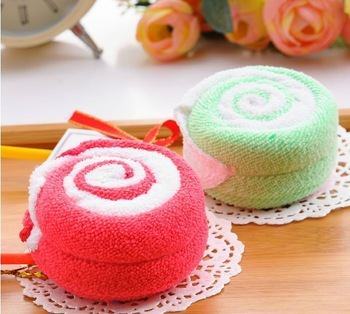 Free shipping Wholesale 2 towel lollipop cake towel colorful gift 20*20cm*2 ,10piece/lot ( Remarks color)