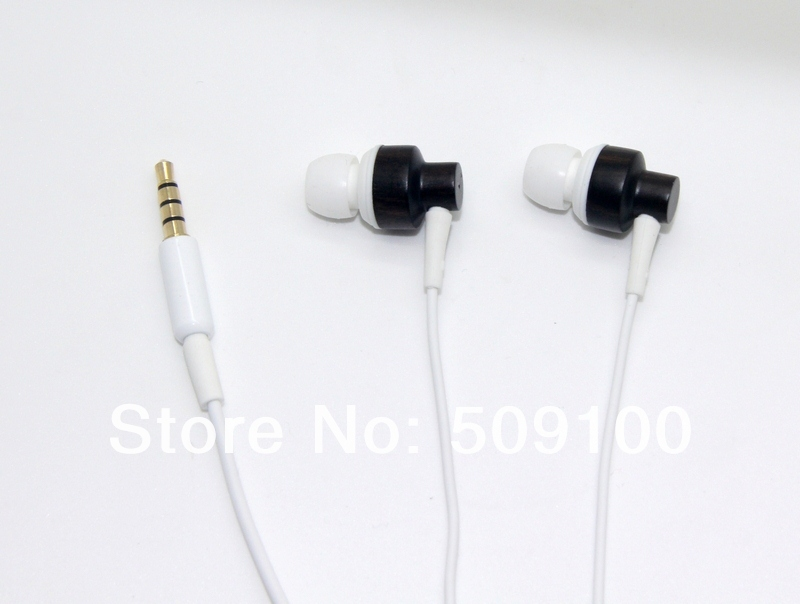 IN Stock High Quality Original JIAYU JY-01 Macassar Ebony Wooden In- Ear Headphone EarPhone with MIC For JIAYU G4 G2s G3 Phone(China (Mainland))