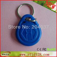Cheap  Waterproof  50PCS/Lot  LF/125Khz  EM ID RFID  Proximity  Card /KeyTag  / Keyfobs For Access Control (EM4100 Chip)