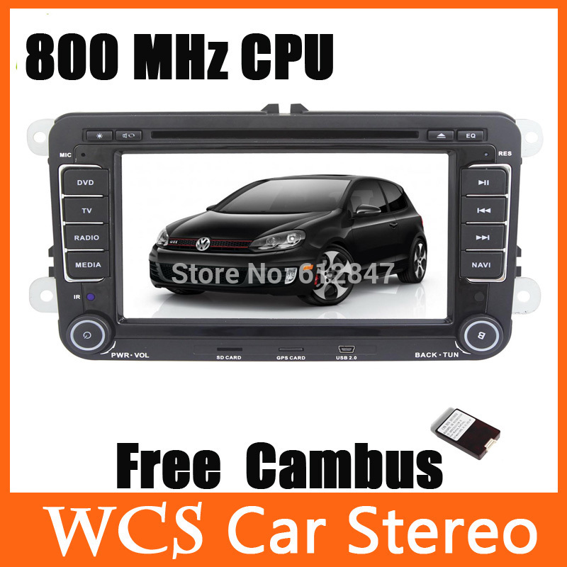 7 inch Car DVD Player Touchscreen Atv Radio Systems GPS Navigation Canbus Steering Wheel Control F/VW Passat EOS Caddy Golf(China (Mainland))