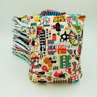 2014 Newly fashion prints 10pcs baby cloth diaper patterned cloth napkins+10pcs 3 layer Microfiber inserts