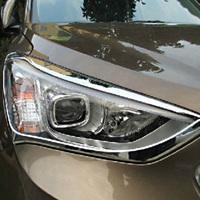 Fit for 2013 Hyundai Santa Fe ix45 ABS Chrome Front Headlight Lamp Cover
