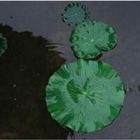 20x Simulation Silk Flowers Dry Cloth Flower Simulation False Lily Pad Lotus Leaf Pond Lily