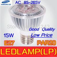 High Quality LED Light PAR 20 15W 5X3W Spotlight E27,1pcs/lot sliver 110V 220V Cool White Warm White PAR20 Low price