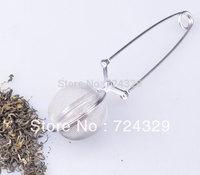 Tea Infuser Stainless Steel Tea Pot Infuser Sphere Mesh Tea Strainer Handle Tea Ball 4.5cm 20PCS/Lot free shipping