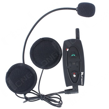 1PCS 500M Motorcycle Bluetooth Helmet Intercom Headset, Full Duplex Real Two-Way Wireless Communication BT Headset Interphone!