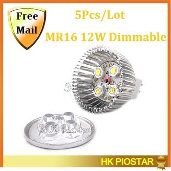 Big Discount 5pcs/lot Dimmable LED Lamp MR16/GU5.3 4X3W 12W LED Dowmlight Bulbs High Power LED Spotlight