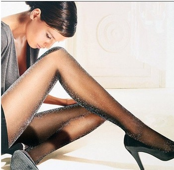 2013 New Free Shipping Womens Sexy pantyhose with Shinning Shiny Silver , Girl's Silk  Pantyhose