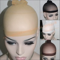 2pcs/Pack,3pack/lot=6pcs/lot  3 colors Hairnets Dream deluxe wig cap high elasticity Net Mesh wig wearing High Quality