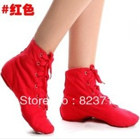 HOT Women Canvas Jazz Boots Dance Shoes Female Soft Outsole  Modern Dance Shoes-Free Shopping