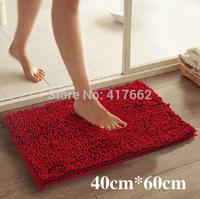 Free shipping chenille carpet mats doormat kitchen bathroom bath mats absorbent non-slip mat (40 * 60)  tapete can be customized
