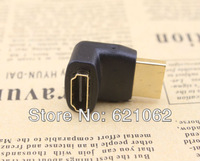 90 degree angle HDMI cable Extend Adapter Converter, HDMI female to HDMI male HD 1080P,Free shipping