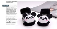 Min order 5$ panda cartoon shoes baby socks, new born shoes non slip Slipper Boots, new born baby shoes baby sock