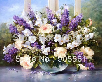 Flower Canvas Prints Classical Oil Painting Picture Printed On Canvas P301