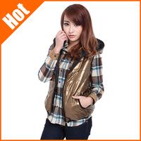 spring autumn 2014 new  women slim cotton vest coat 8 colors M/L/XL fashion new the waistcoat