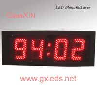 4 inch led countdown/count up led display art clock  design timer