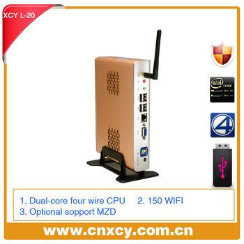 2013 hot sale XCY L-20 Mini Computer net computer itx computer INTEL ATOM D525, dual core support Joystick/Microphone