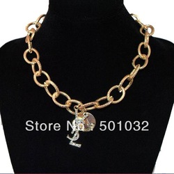 Gold filled chunky chain necklace chain is necklace choker collar statement necklace fashion jewelry, free shipping(China (Mainland))