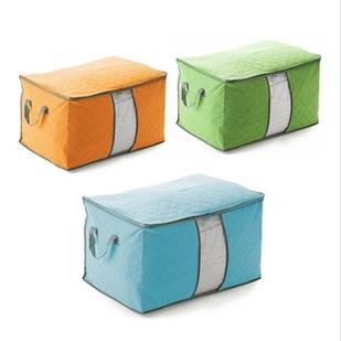 Free Shipping!L Size Bamboo Storage Bag for Clothes Quilt and Blanket/Home Storage Case/Organize Bag Hot Sale Online 2pcs/lot(China (Mainland))