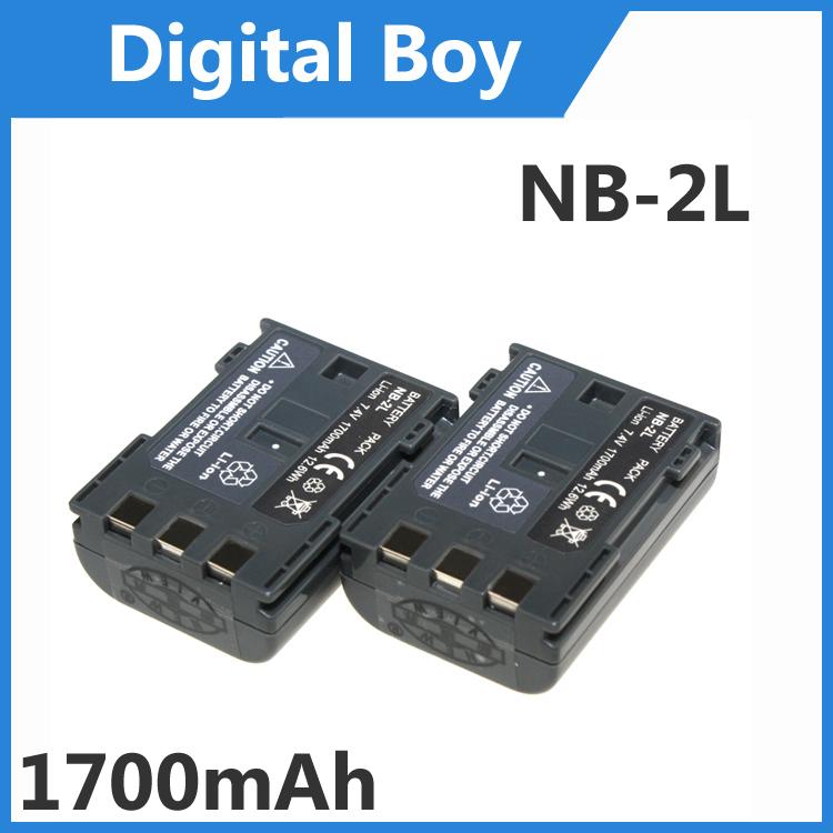 Digital boy 2 pcs/lot NB-2L NB 2L NB2L NB-2LH battery pack for Canon Rebel XT XTi 350D 400D G9 G7 S80 S70 S30(China (Mainland))