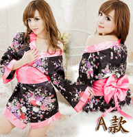 Free shipping 1pcs 5color Sexy underwear kimono COSPLAY Pajamas sexy lingerie Free size/  family pajama sets/costume