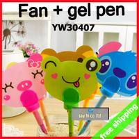 FREE SHIPPING Cartoon Gel Ink Pen Animal Rilakkuma Frog Pig Fan Office Writing Stationery Kids Gift say hi 30pc/lot 30407
