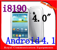 New i8190 4.0 inch android 4.0  1GHz Smart  Micro SIM Single Card Cameras WIFI 9300 android phone (Free shipping )