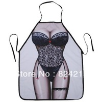 New Funny COOKING APRON NOVELTY sexy JOKE DINNER PARTY UNISEX black lace swimsuit swimwear woman cosplay gift  free shipping