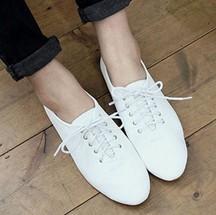 2013 Free Shipping New Retro shoes British style leisure wild flat bottom Oxford women shoes white B4