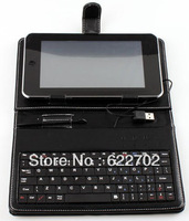 Promotion free shipping 7 inch USB keyboard case for tablet pc