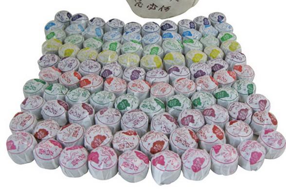 220g 36pcs 9 Kinds Flavor Pu er Puerh Tea Yunnan Pu Er Ripe Tea Chinese Tea