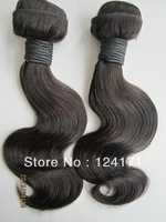 cheap 5A unprocessed virgin Indian human hair extension dyeable body wave 2013 new arrival 3pcs intact cuticle