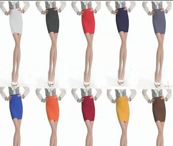 2015 горячая распродажа мода высокая талия хип-хоп тонкий работы формальные женщин плиссированные карандаш короткие юбки
