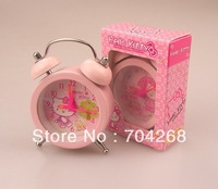 Wholesaler Cute Hello Kitty alarm clock digital /lovely alarm clock for kids /new year gift Kitty mini alarm clock for kids Pink