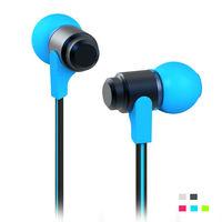 Wallytech 100xHot Metal Earphone For iPod For iPhone Flat cable Earphone Free shipping by DHL (WEA-116)