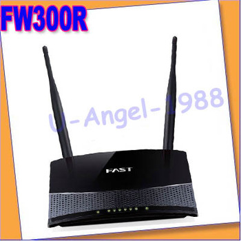Register shipping!! 300Mbps 11N 802.11b/g/n Wireless 4-Port WIFI Lan Broadband Router Fast FW300R Black