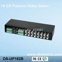 16CH CCTV Video Balun Transceiver ,RJ45+Female BNC+Greem connector  Video Balun Cat5 ,Double Layer Design Freeshipping DS-UP162B