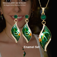 Free Shipping Neoglory MADE WITH SWAROVSKI ELEMENTS Rhinestone 14K Gold Plated Jewelry Set Wholesale Gift Holiday Sale